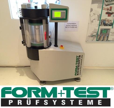 Form + Test beproevingsmachine Beta 5-3000-AD