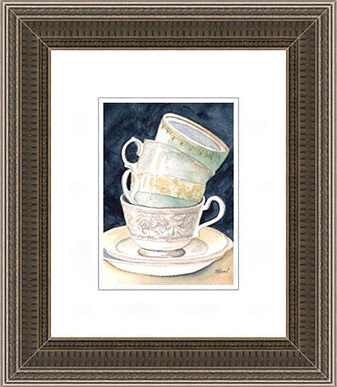 Teacups Framed