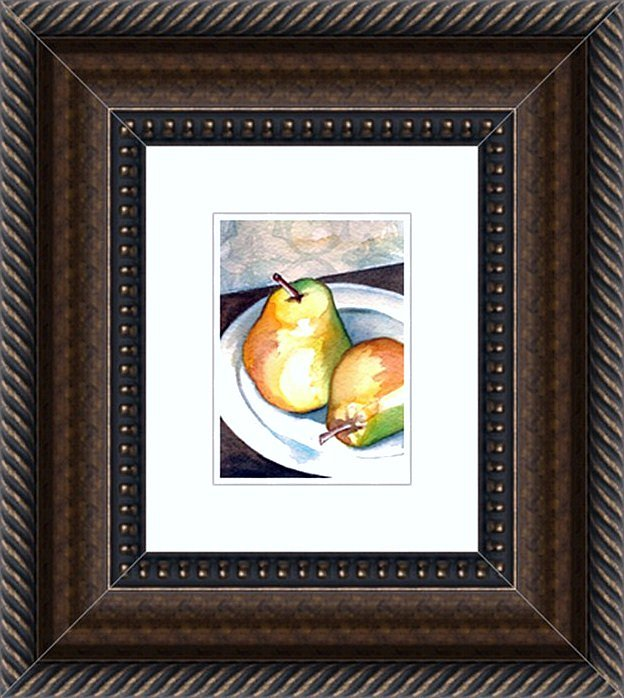 A Pair of Pears Framed