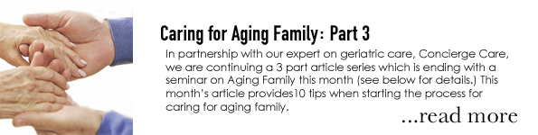 Caring for Aging Family