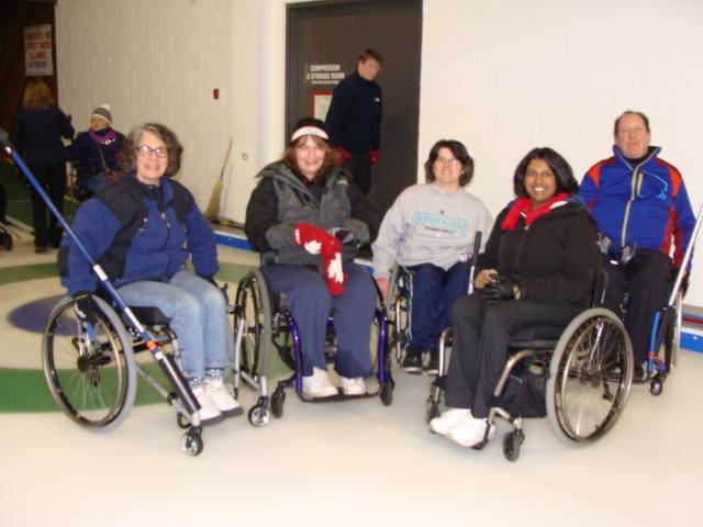 Beginner Wheelchair Curlers