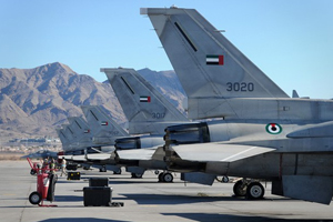 F-16 Desert Falcons from the UAE Air Force