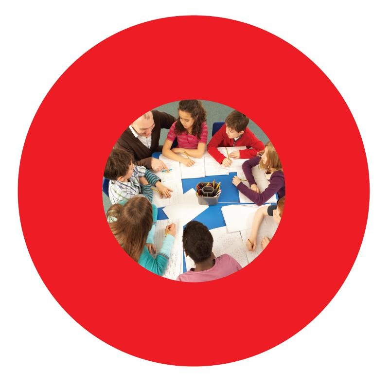 red ring with group in