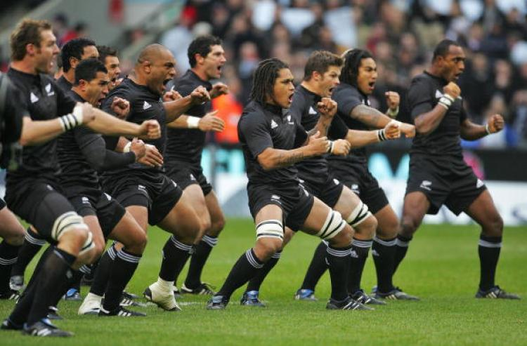 New Zealand All Blacks Rugby Team (Haka)