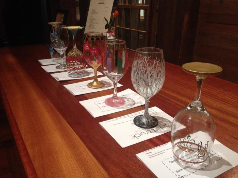 Wine glass painting party at chamard vineyards for Wine paint party