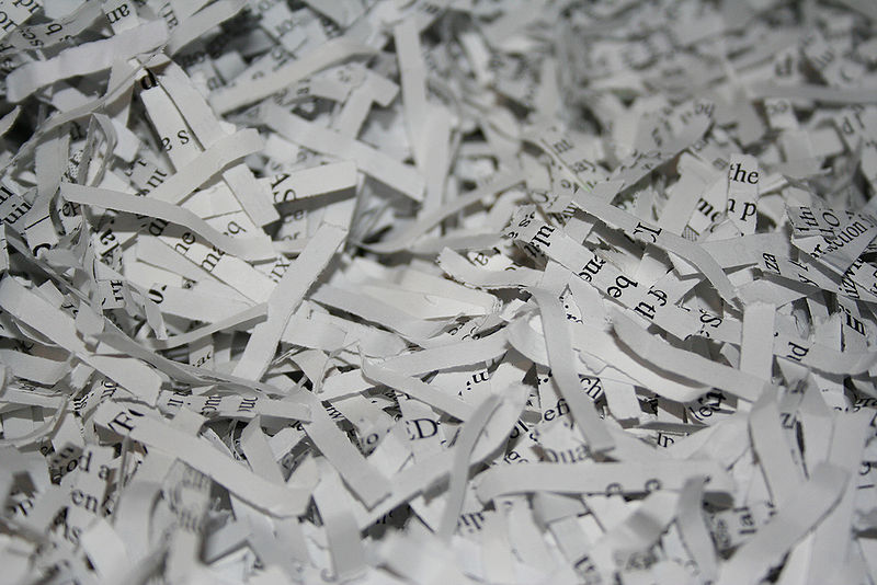 shred paper