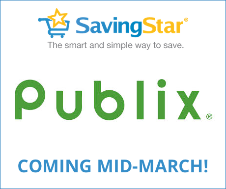 Publix will be joining SavingStar in Mid-March!