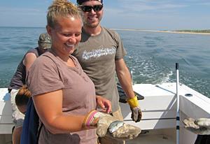 Marine science interns