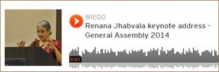 General Assembly Speech by Renana Jhabvala