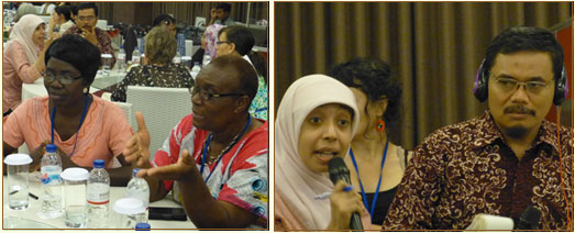 participants engaged in discussion
