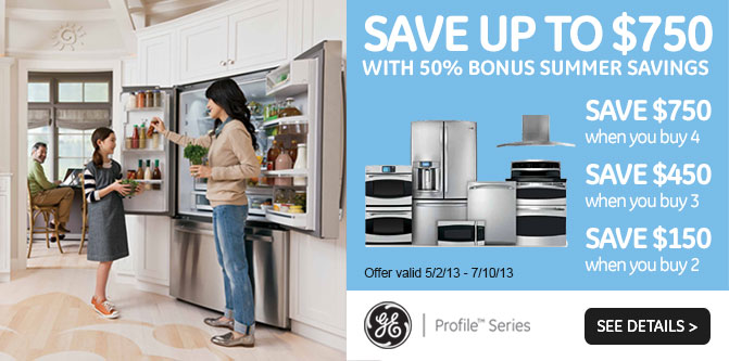 GE Profile 750 Rebate Banner