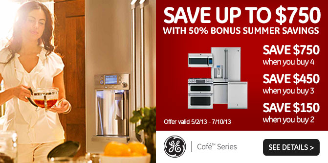 GE Cafe 750 Rebate Banner