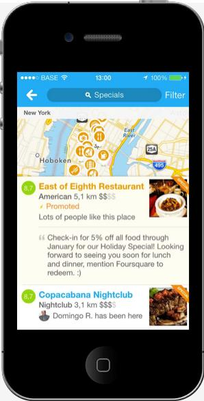 Mobile Marketing Foursquare example