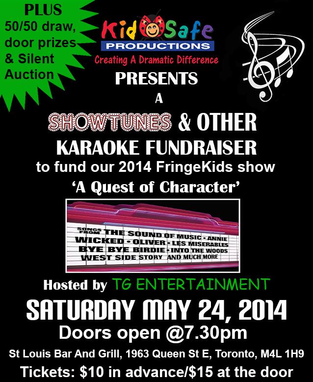Kid-Safe Productions Karaoke Fundraiser