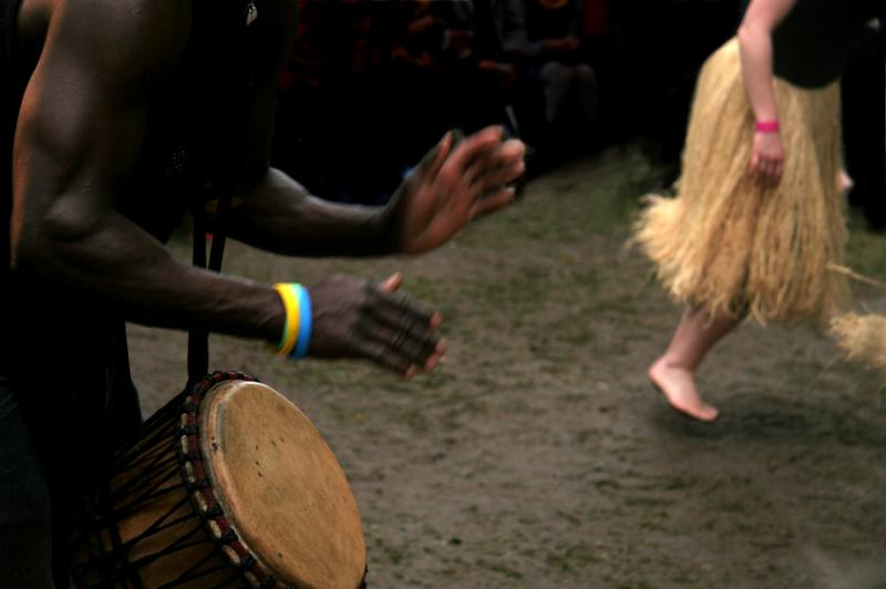 Djembe and Dancer