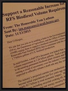 House RFS Letter 2014