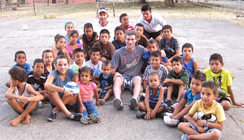 Costa Rica kids in Guancaste after getting shoes and balls