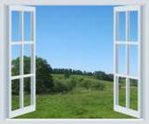View thru an open window
