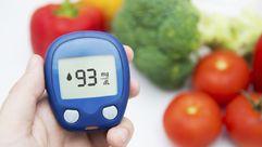 Glucose meter & veggies
