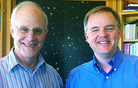Former KITP director David Gross, left, and the Institute's current director, Lars Bildsten (Credit: UCSB)