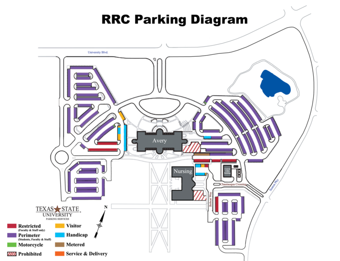 RRC Parking Map