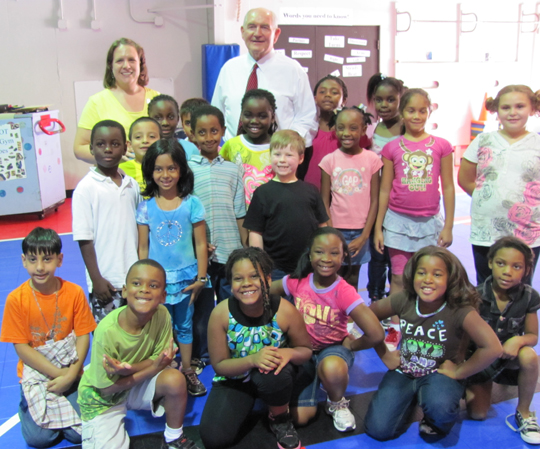 Gov. Perdue joins Shiloh Elementary students for SHAPE launch