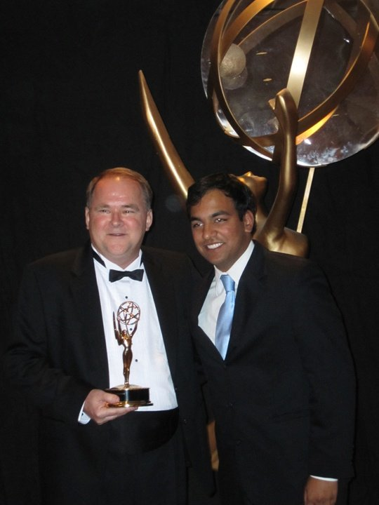 GCPS TV team members accept EMMY award