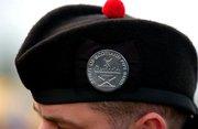 Cap badge on hat