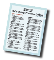 Download Our Water Damage Prevention Checklist