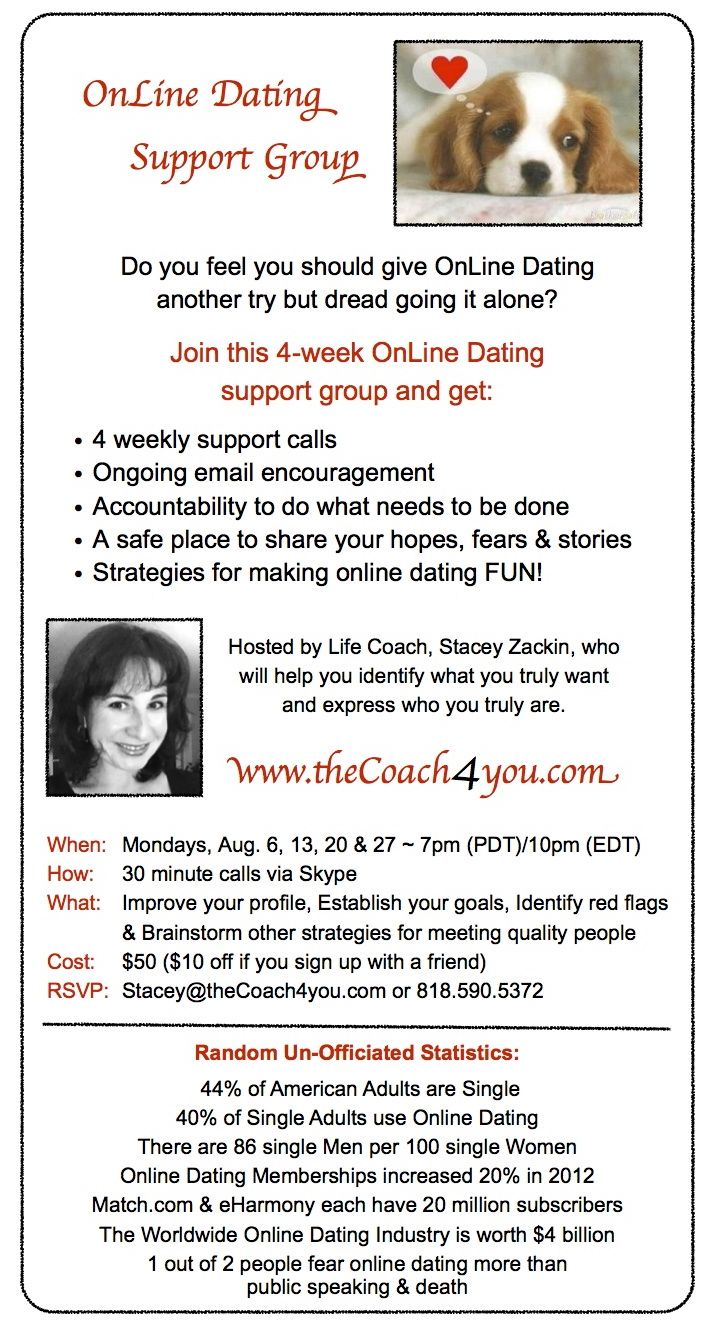 Online dating support group