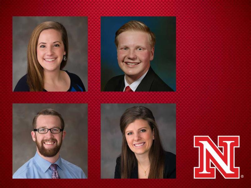 4 student winners of the NIRSA Wasson Award.