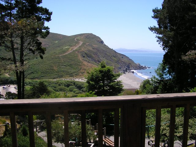Muir Beach Community Center View from Back Deck
