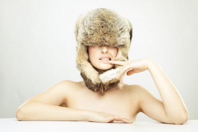 furry hat girl