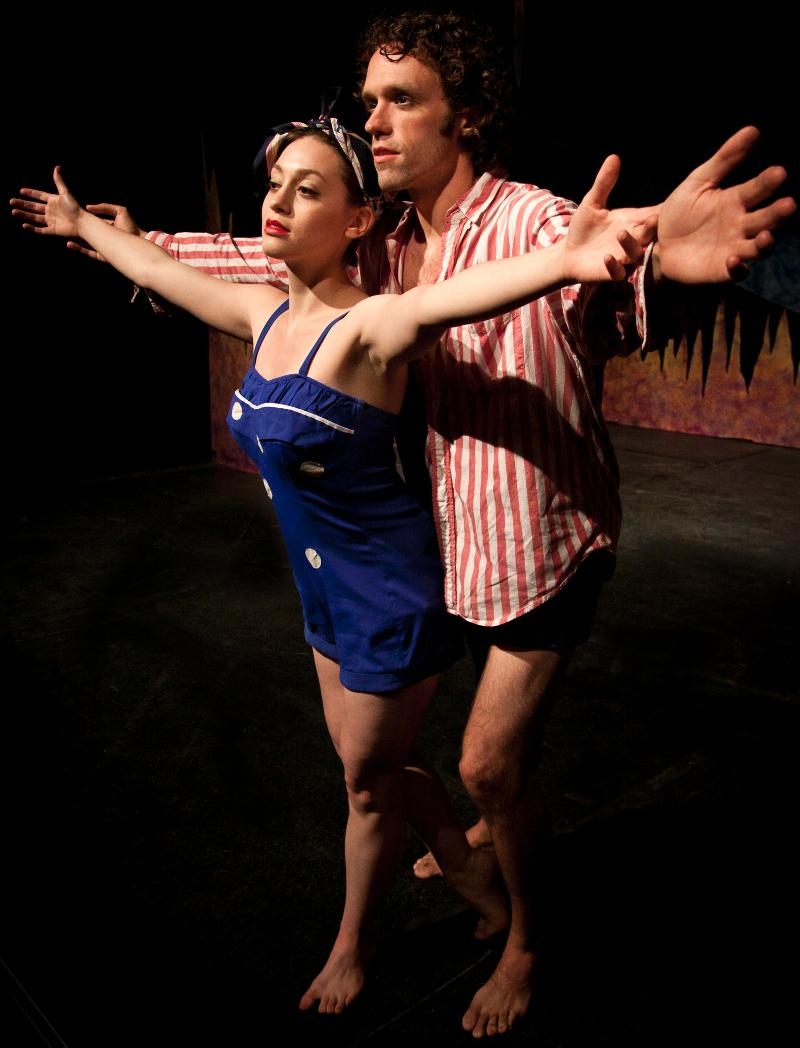 Orpheus and Eurydice take in the sea