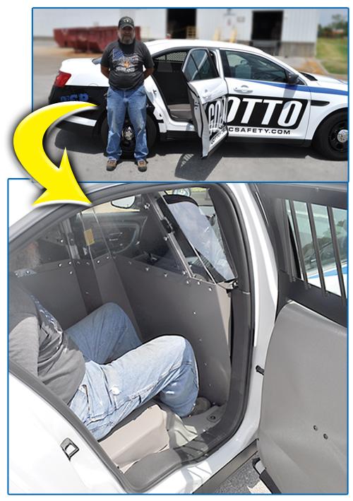 Large Prisoner Fits Easily into Single Cell for PI Sedan