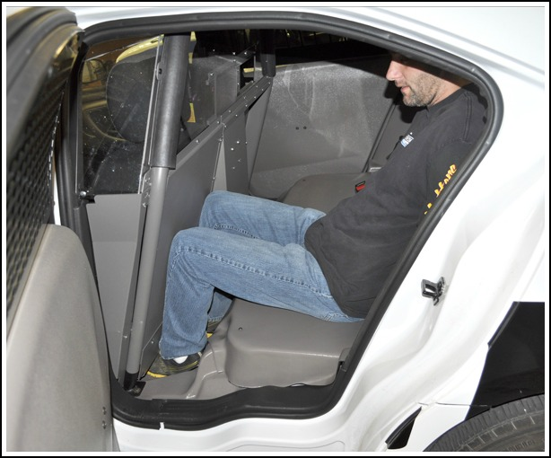 Increased room for Prisoners secured on Driver Side of Vehicle