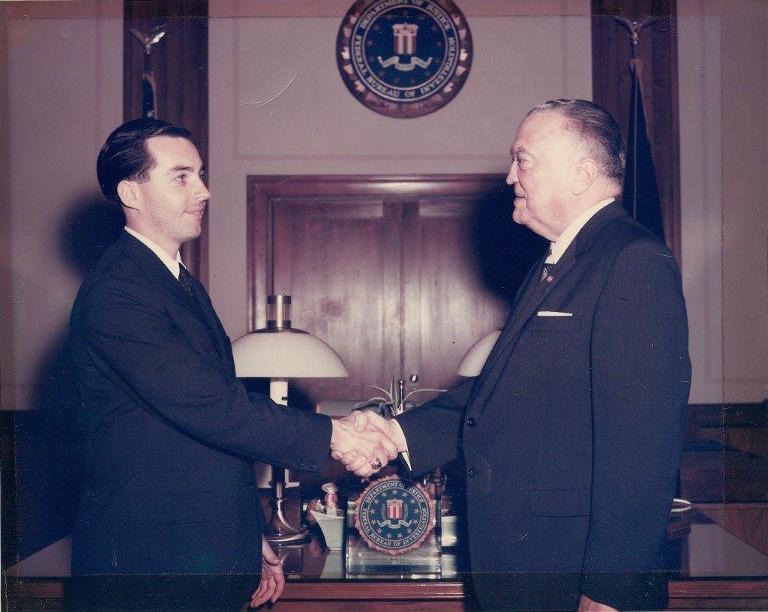 Ron Woods with J Edgar Hoover