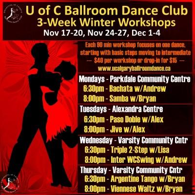 UCBDC Winter 3-Week Workshops Nov 17 - Dec 4