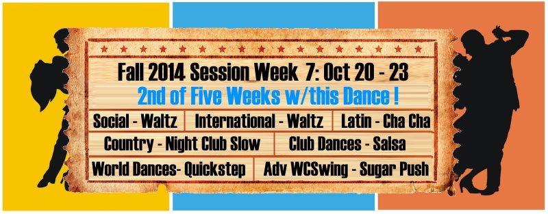 UCBDC Fall 2014 Session Week 7 Dances Covered