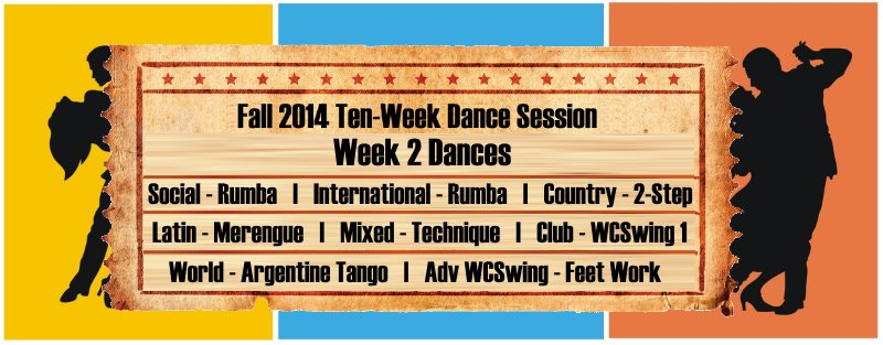 UCBDC Fall 2014 Session Week 2 Dances Covered