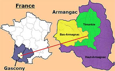 Map of Armagnac