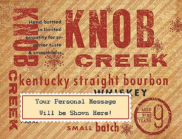 Knob Creek Personalized Label