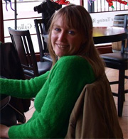 alicia smiling at the camera