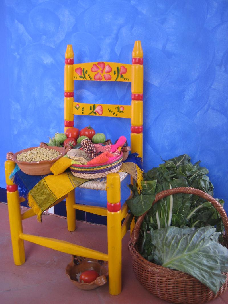chair and veges