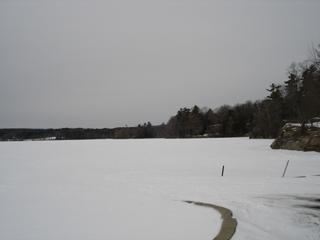 Ice lake shore