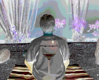 meditation back glass